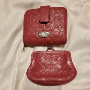 Coach wallet and coin purse